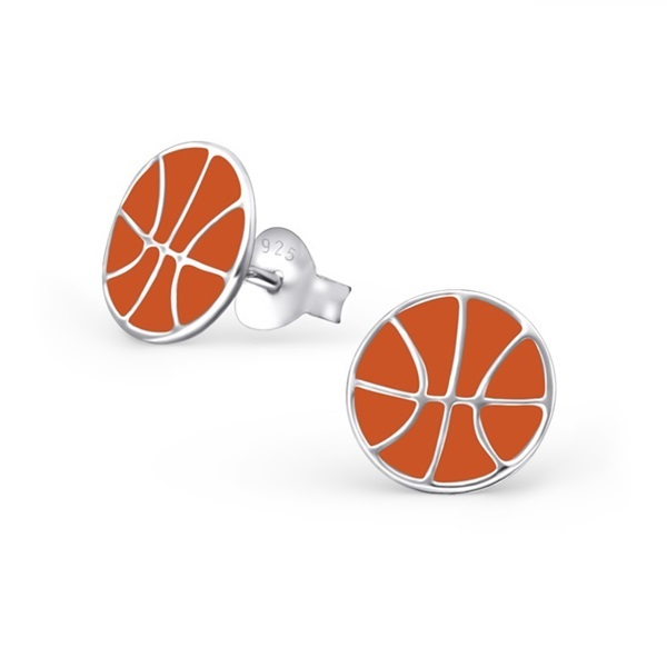 Basketball Ohrstecker Echt 925 Echt Silber Ohrringe Mädchen Ball Fussball